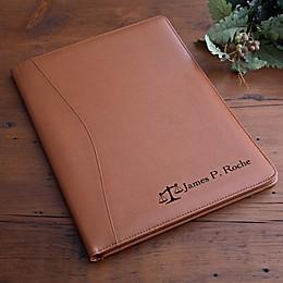 Legal Briefs Leather Portfolio in Tan