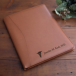 Medical Notes Leather Portfolio in Tan