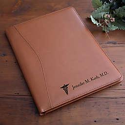 Medical Notes Leather Portfolio in Tan