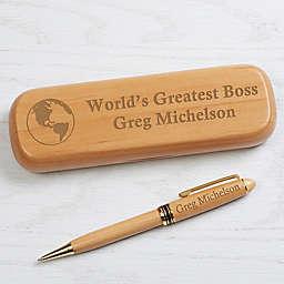 World's Greatest Personalized Alderwood Pen Set
