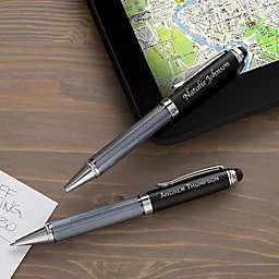 Black Stylus Ball-Point Pen