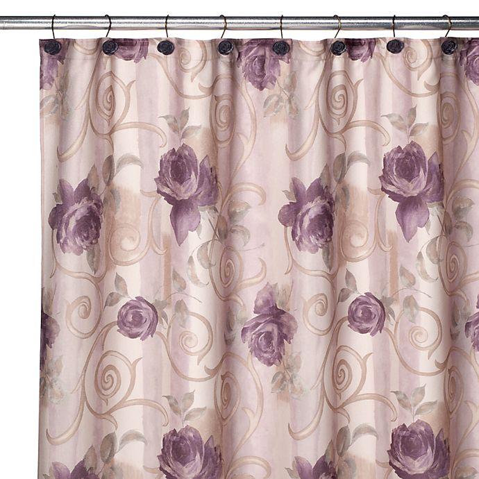 Croscill Chambord Shower Curtain And Hook Set