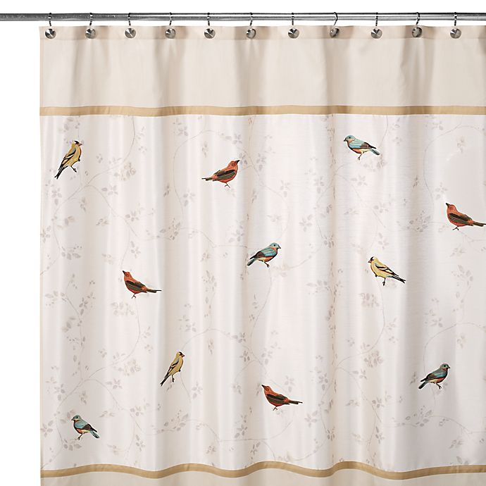 Alternate image 1 for Avanti Gilded Birds 70-Inch x 72-Inch Shower Curtain