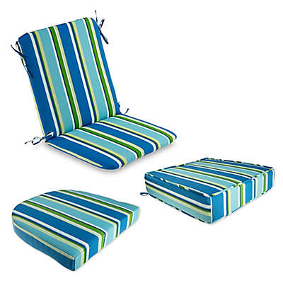 Brady Stripe Outdoor Cushion and Throw Pillow Collection