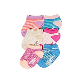 OshKosh B'gosh® 6-Pack Stripe Ankle Socks in Blue/Pink/Green
