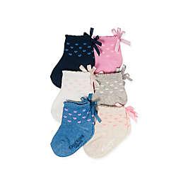 OshKosh B'gosh® 6-Pack Bow Crew Socks in Pink/Blue/White