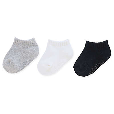 carter's® 3-Pack Ankle Socks in Black/Grey/White