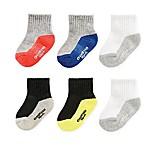 OshKosh B'gosh® Size 3-12M 6-Pack Multicolored Athletic Crew Socks
