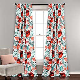 Poppy Garden 2-Pack 84-Inch Room Darkening Rod Pocket/Back Tap Window Curtain Panels