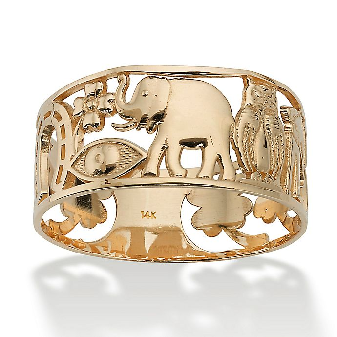 palm beach jewelry 14k gold good luck ladies 39 ring bed bath beyond. Black Bedroom Furniture Sets. Home Design Ideas
