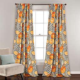 Poppy Garden Room Darkening Rod Pocket/Back Tap Window Curtain Panels (Set of 2)