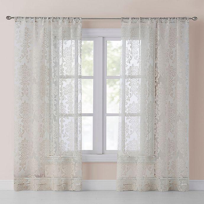 Alternate image 1 for Wonder Home Blair 95-Inch Sheer Rod Pocket Window Curtain Panel Pair in Grey