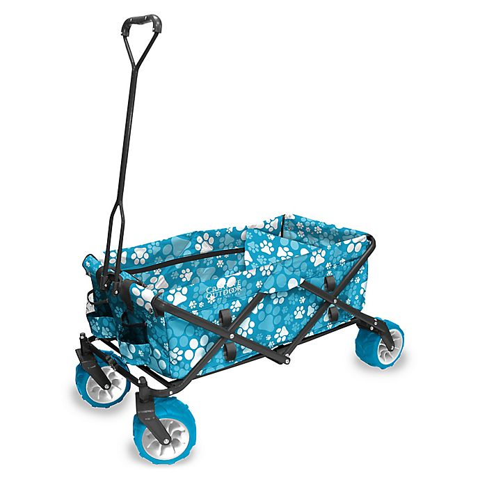 Alternate image 1 for Creative Outdoor™ All Terrain Folding Wagon in Blue/White