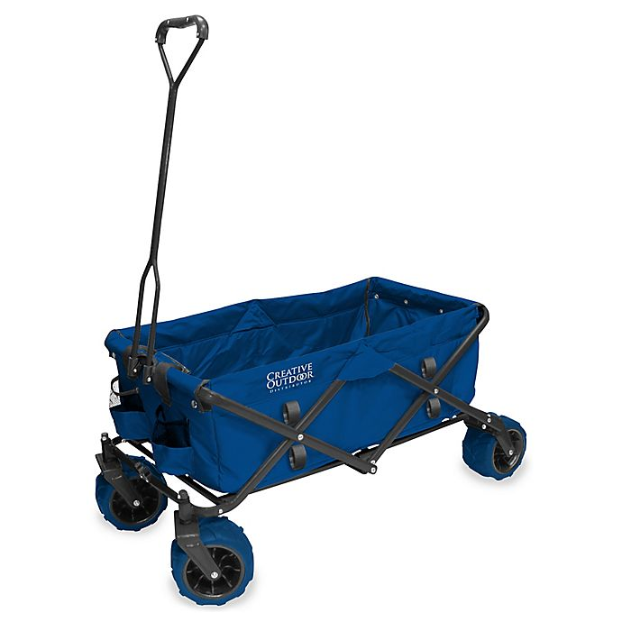 Alternate image 1 for Creative Outdoor™ All Terrain Folding Wagon in Blue