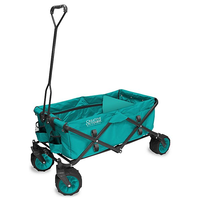 Alternate image 1 for Creative Outdoor™ All Terrain Folding Wagon in Teal