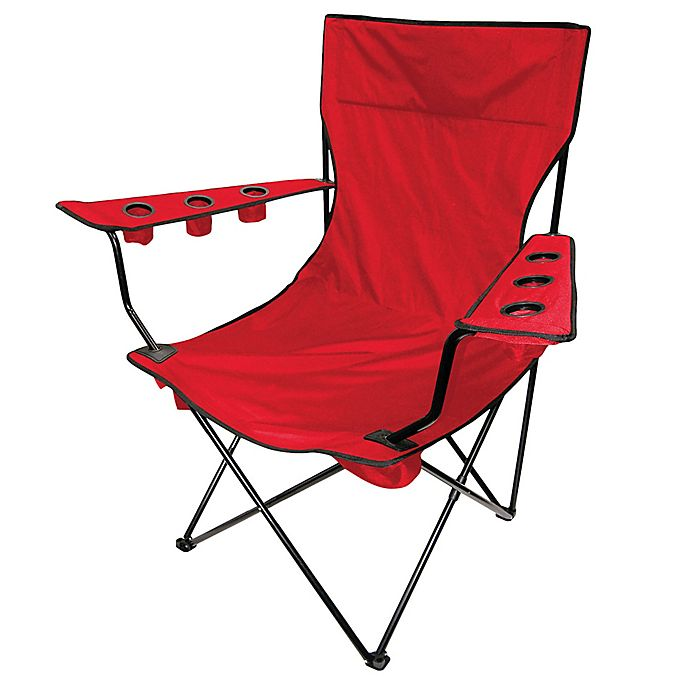 Alternate image 1 for Creative Outdoor Kingpin Folding Chair in Red