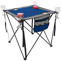Creative Outdoor™ Portable Folding Wine Table in Blue/Grey