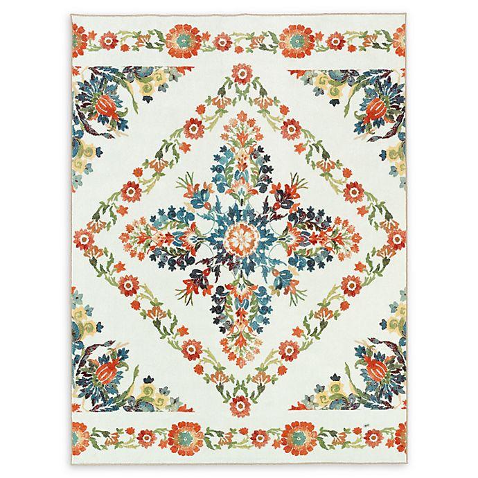 Alternate image 1 for Mohawk Home® Aurora Bishop Tile Multicolor Floral 5' x 8' Area Rug