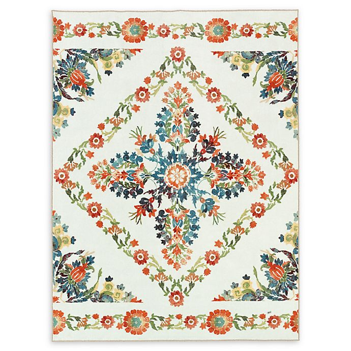 Alternate image 1 for Mohawk Home® Aurora Bishop Tile Multicolor Floral 8' x 10' Area Rug