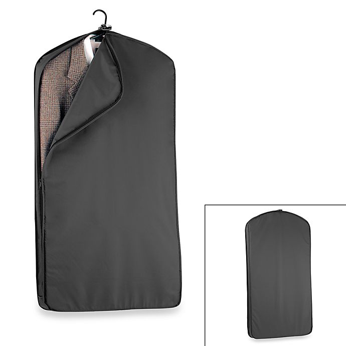 Alternate image 1 for WallyBags® 42-Inch Suit Length Garment Bag in Black