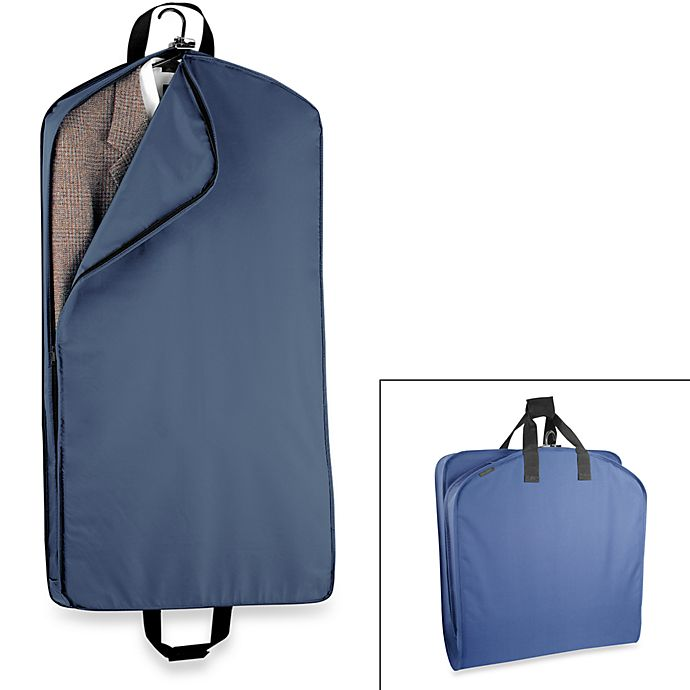 Alternate image 1 for WallyBags® 42-Inch Suit Length Garment Bag in Navy