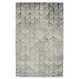 Dynamic Rugs Posh Echer Area Rug in Ivory/Grey