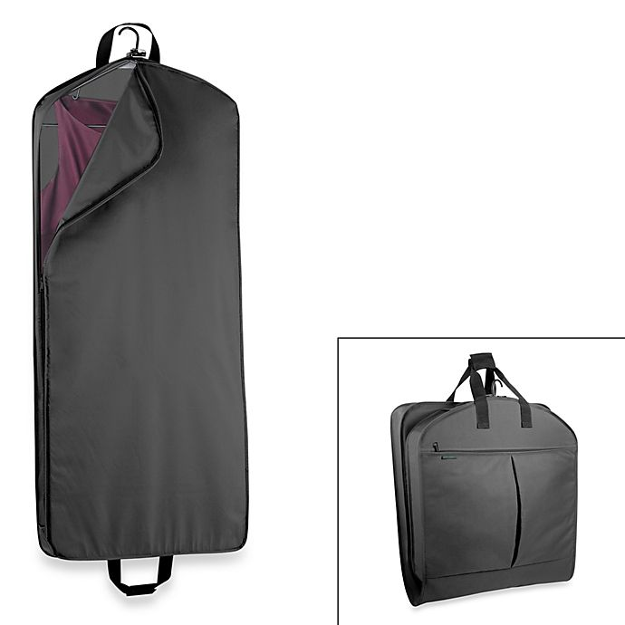 Alternate image 1 for WallyBags® 52-Inch Dress Length Garment Bag with Extra Capacity in Black