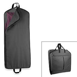Wallybags 52 Inch Dress Length Garment Bag With Extra Capacity In Black