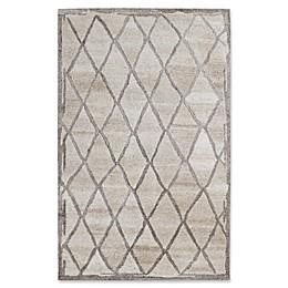 Dynamic Rugs Posh Diamonds Rug in Ivory/Grey