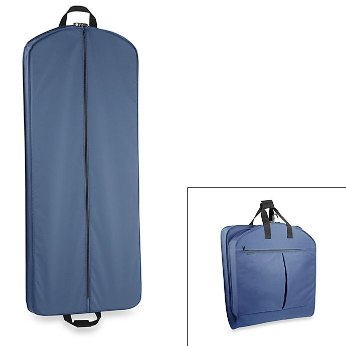 Alternate image 1 for WallyBags® 52-Inch Dress Length Garment Bag with Pockets in Navy