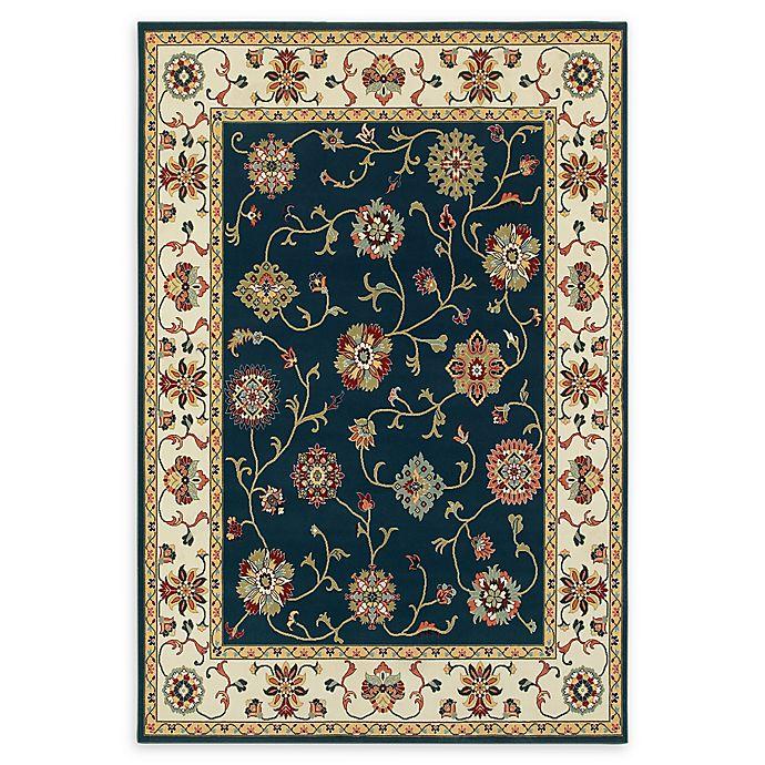 Alternate image 1 for Oriental Weavers Kashan 2'3 x 7'6 Runner in Navy/Ivory