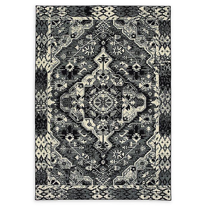 Alternate image 1 for Oriental Weavers Luna Tribal 9'10 x 12'10 Area Rug in Black/Ivory