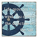"Artissimo Designs™ ""Life Provides the Wind"" 18-Inch Square Canvas Wall Art"