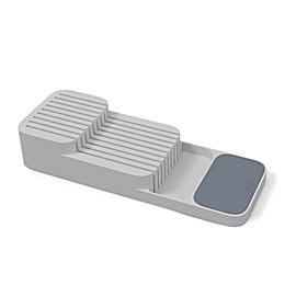 Joseph Joseph® DrawerStore™ 2-Tier Compact Knife Organizer in Grey