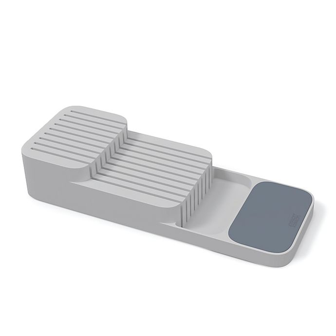 Alternate image 1 for Joseph Joseph® DrawerStore™ 2-Tier Compact Knife Organizer in Grey
