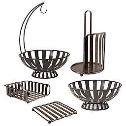 Spectrum Stripe Metal Kitchen Accessories Collection in Oil Rubbed Bronze