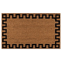 Erin Gates Park Border Coir Door Mat in Black