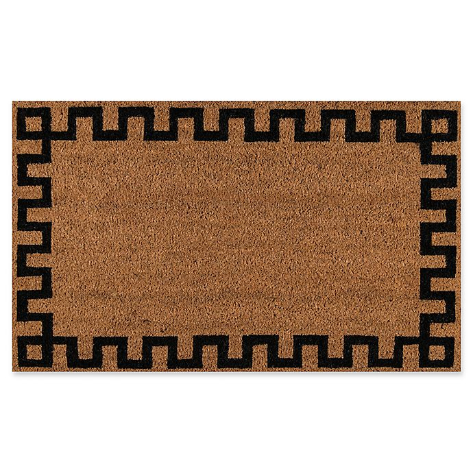 Alternate image 1 for Erin Gates Park Border Coir Door Mat in Black