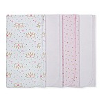 Gerber® 4-Pack Princess Flannel Swaddle Blankets in Pink