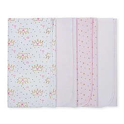 Gerber® 4-Pack Princess Flannel Swaddle Blankets in Pink