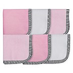 Gerber® 6-Pack Princess Woven Washcloths in Pink