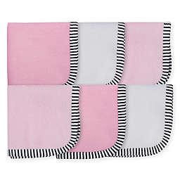 Gerber® 6-Pack Princess Woven Washcloths in Pink