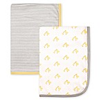 Hudson Baby® 2-Pack Duck Interlock Swaddling Blankets in Yellow