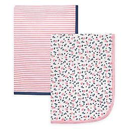 Hudson Baby® 2-Pack Flower Swaddle Blankets