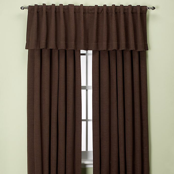 Alternate image 1 for Union Square 63-Inch Rod Pocket/Back Tab Window Curtain Panel in Chocolate