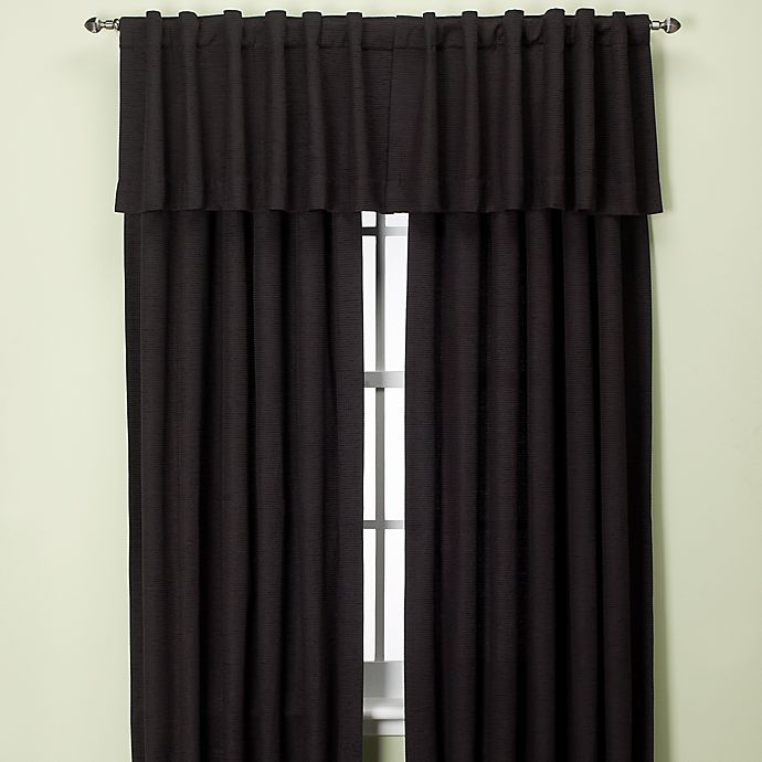 Alternate image 1 for Union Square 144-Inch Rod Pocket/Back Tab Window Curtain Panel in Black