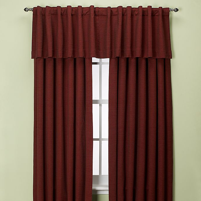 Alternate image 1 for Union Square 132-Inch Rod Pocket/Back Tab Window Curtain Panel in Red