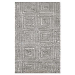 Surya Luminous Geometric Rug in Medium Grey