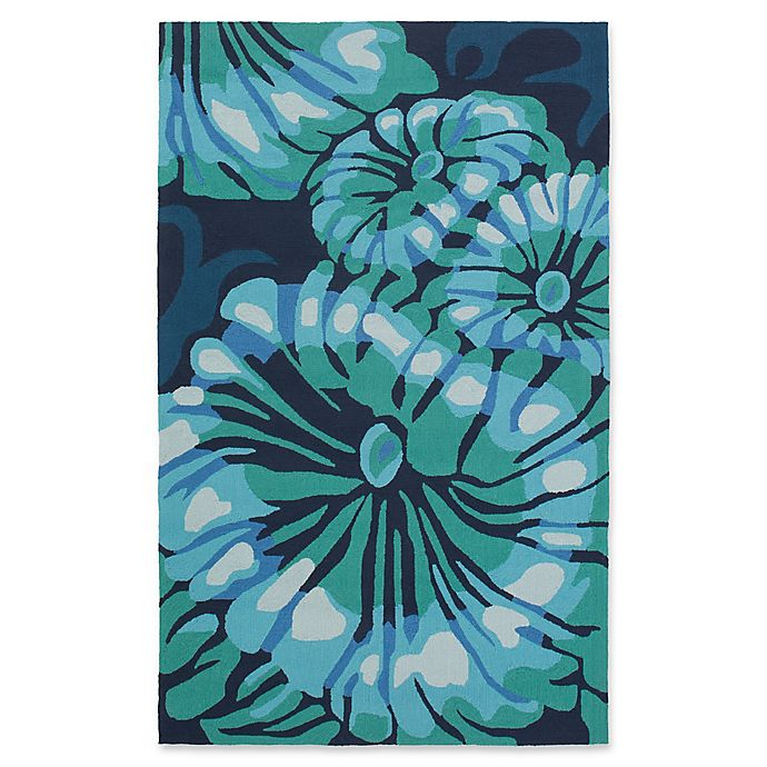 Alternate image 1 for Suyra Rain Modern 3' x 5' Area Rug in Emerald/Navy