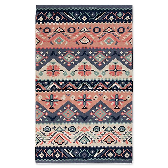 Alternate image 1 for Surya Jewel Tone Southwest 9' x 13' Area Rug in Navy/Butter